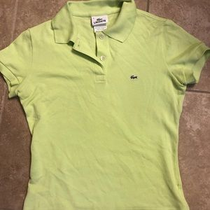 Green Lacoste polo size XS